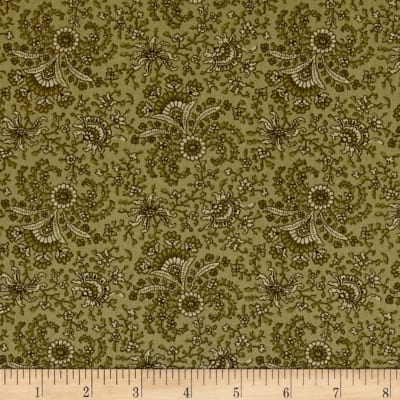 Windham Secrets and Shadows Fan Floral  Green