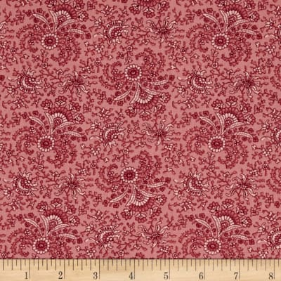Windham Secrets and Shadows Fan Floral  Pink