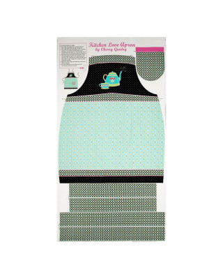 "Kitchen Love Kitchen Love 23.5"" Apron Panel Black/Multi"