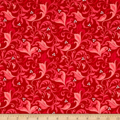 Feathers & Flourishes Flourish Scroll Red