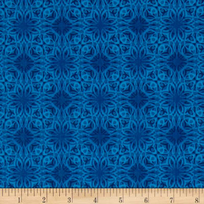 Treasures of Nature Under the Sea Tonal Medallion Blue