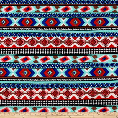 Brushed Stretch ITY Jersey Knit Aztec Red