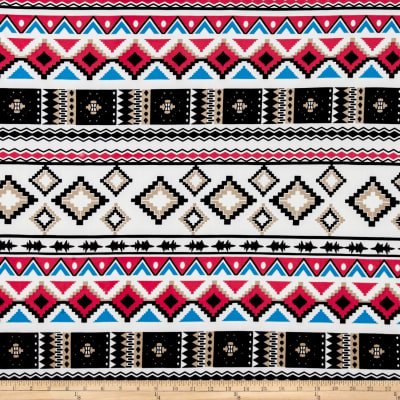 Brushed Stretch ITY Jersey Knit Aztec Pink