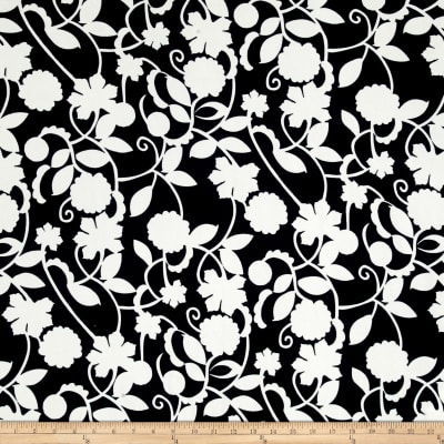 Liverpool Double Knit Romantic White Floral on Navy