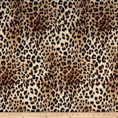Scuba Knit Cheetah Animal Skin Taupe