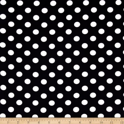 Textured Crepe Ivory Black Dot
