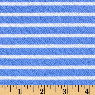 Liverpool Double Knit Stripes Perriwinkle