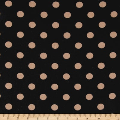 Liverpool Double Knit Dots Black/ Taupe
