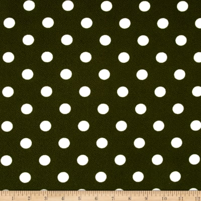 Liverpool Double Knit Dots Olive/ Cream