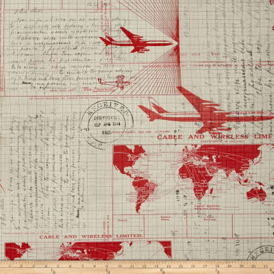 Tim Holtz Electic Elements Correspondence Jet Setter Red