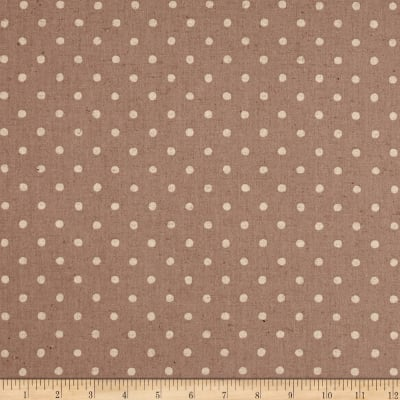Kaufman Sevenberry Canvas Natural Dots Small Ash
