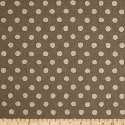 Kaufman Sevenberry Canvas Natural Dots Large Grey