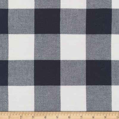 Kaufman Grizzly Plaids 6.6 Oz Twill Plaid Buffalo Check Navy