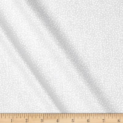 """Touch of White 108"""" Wide Back Tiny Dots White"""