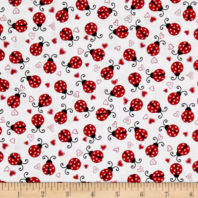 Dear Heart Ladybugs White Red