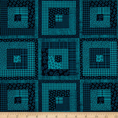 Peaceful Gathering Log Cabin Teal