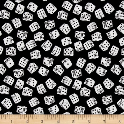 Game Night Dice Black White