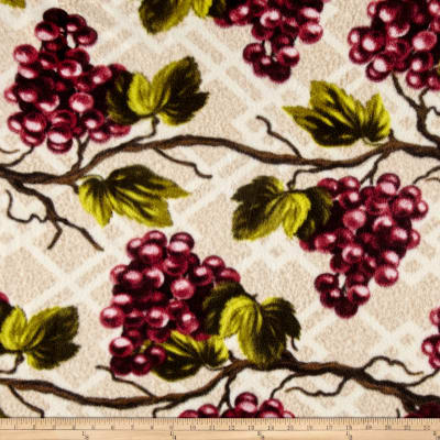 Fleece Prints Wine Country Merlot