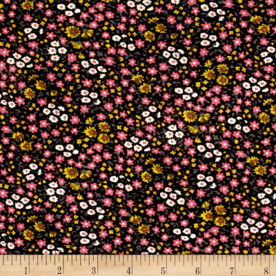 Corduroy Pink Flowers on Chocolate