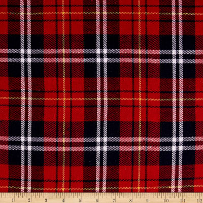 Yarn Dyed Flannel Plaid Red/Navy/White