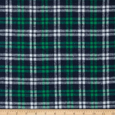 Yarn Dyed Flannel Plaid Navy/Kelly