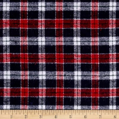 Yarn Dyed Flannel Plaid Navy/Red/White