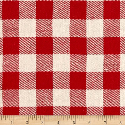 Yarn Dyed Plaid Flannel Gingham Red