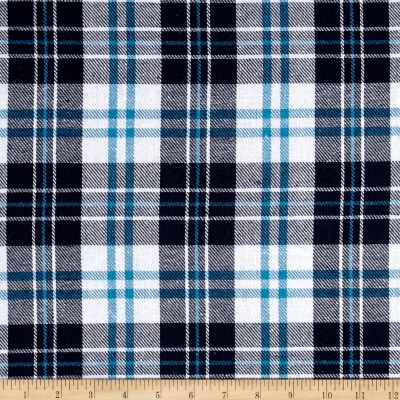 Yarn Dyed Plaid Flannel Navy/Blue/White