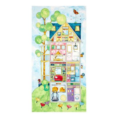 "Home for You and Me 23.5"" Panel Multi"