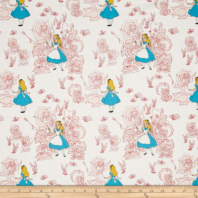 Disney Alice In Wonderland Falling Golden Afternoon Toile Blush