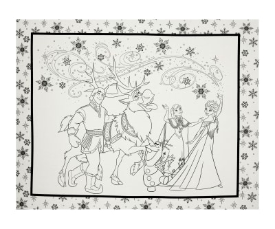 "Disney Frozen Characters 36"" Panel White"