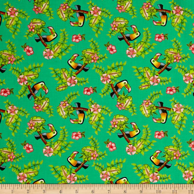 Pink Lady Toucan Green