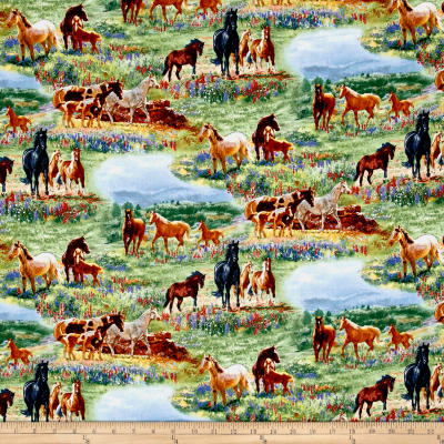 Wildflower Trails Horses Scenic Multi