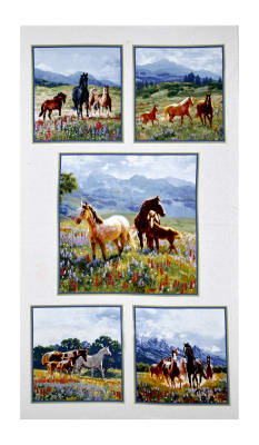 "Wildflower Trails Panel 24.5"" Cream"