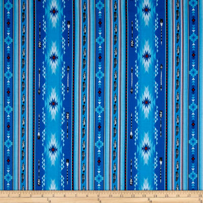 Native Spirit Arrow Feather Stripe Blue Discount