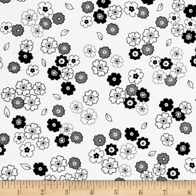 Fade to Black Small Flowers White