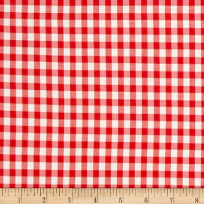 """Cotton Blend 1/4"""" Gingham Shirting Red"""
