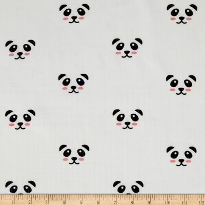 Riley Blake  Panda Double Gauze White
