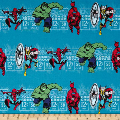 Marvel Comics Price & Hero Stripe Blue