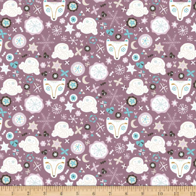 Snowfall Bear Faces Dark Lilac