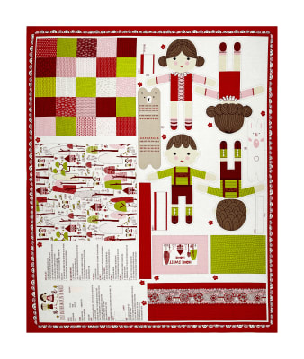"""Moda Just Another Walk In The Woods Walk in the Woods 36"""" Dolls Panel Multi"""