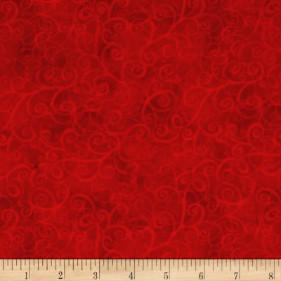 Timeless Treasures Flannel Breeze Red