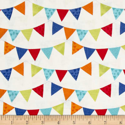 Timeless Treasures Playroom Rules Bunting Ivory