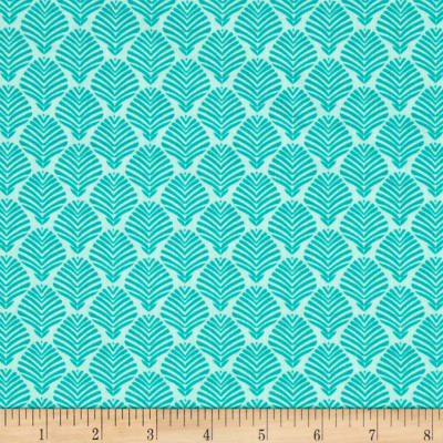 Timeless Treasures Crafty Gemini Dominicana Palm Leaves Aqua