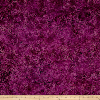 Malam Batiks Packed Petals Raspberry