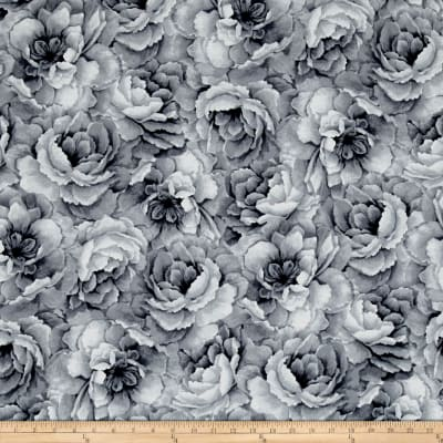 Belleflower Large Tonal Floral Gray
