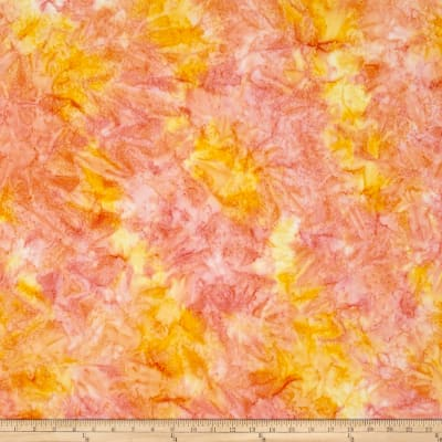 Kaufman Artisan Batiks Patina Handpaints Mottled Citrus