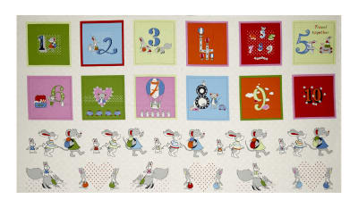 "Count on Me Counting 24"" Panel Blocks White"