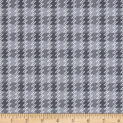 Kanvas Zoo Baby Flannel Zoo Plaid Gray