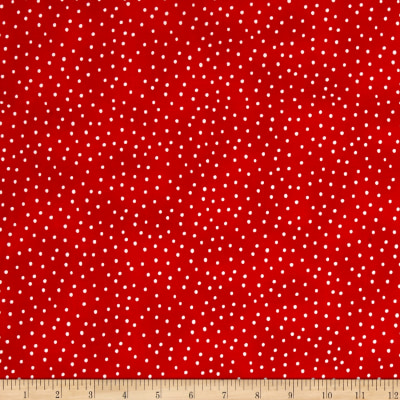 Loralie Designs Sew Creative Dinky Dot Red White